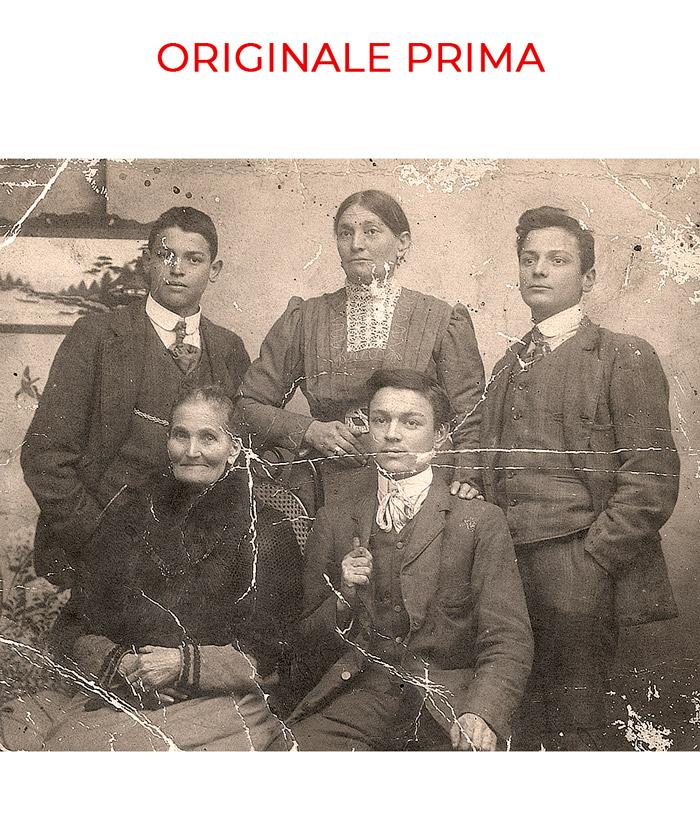 Foto di famiglia da ritoccare
