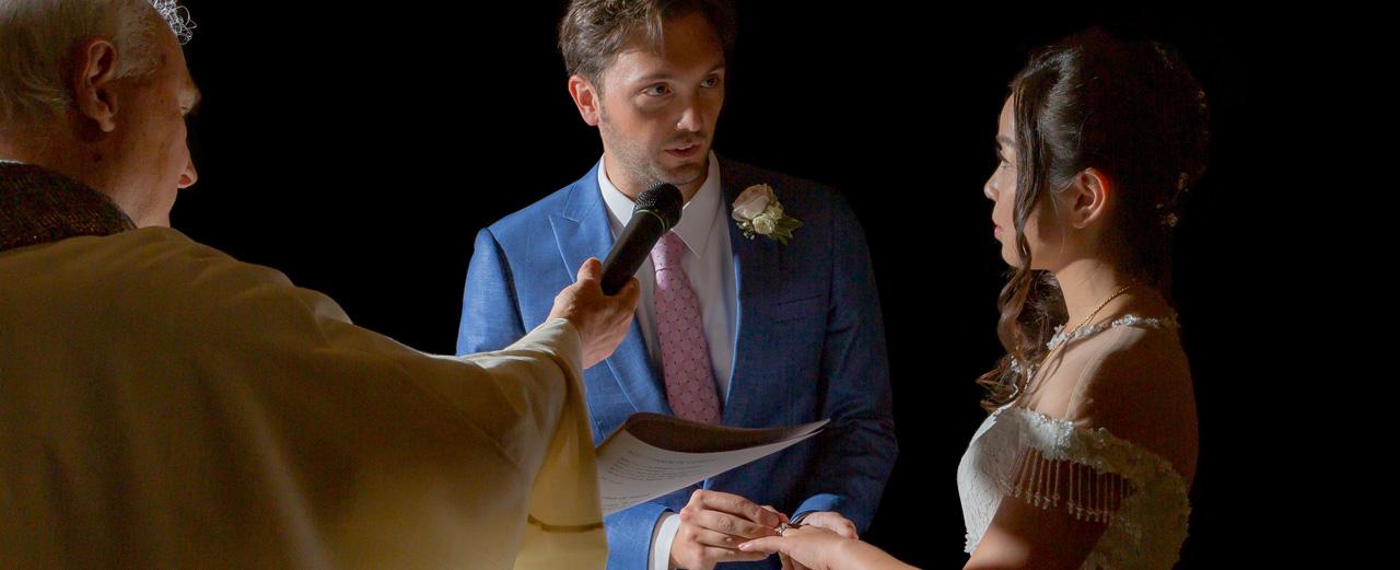 Scambio degli anelli foto di matrimonio